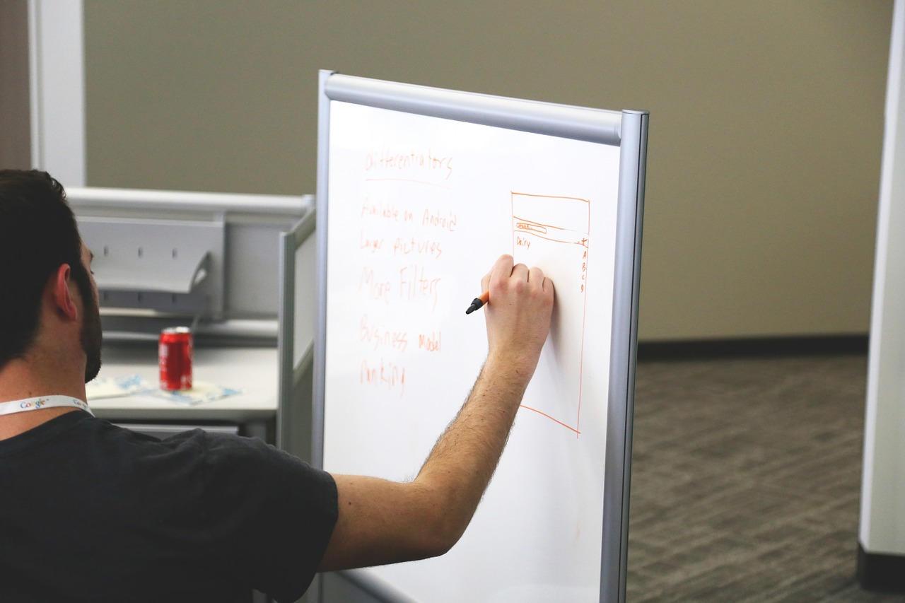 a project manager creating estimates of the budget and duration of the project