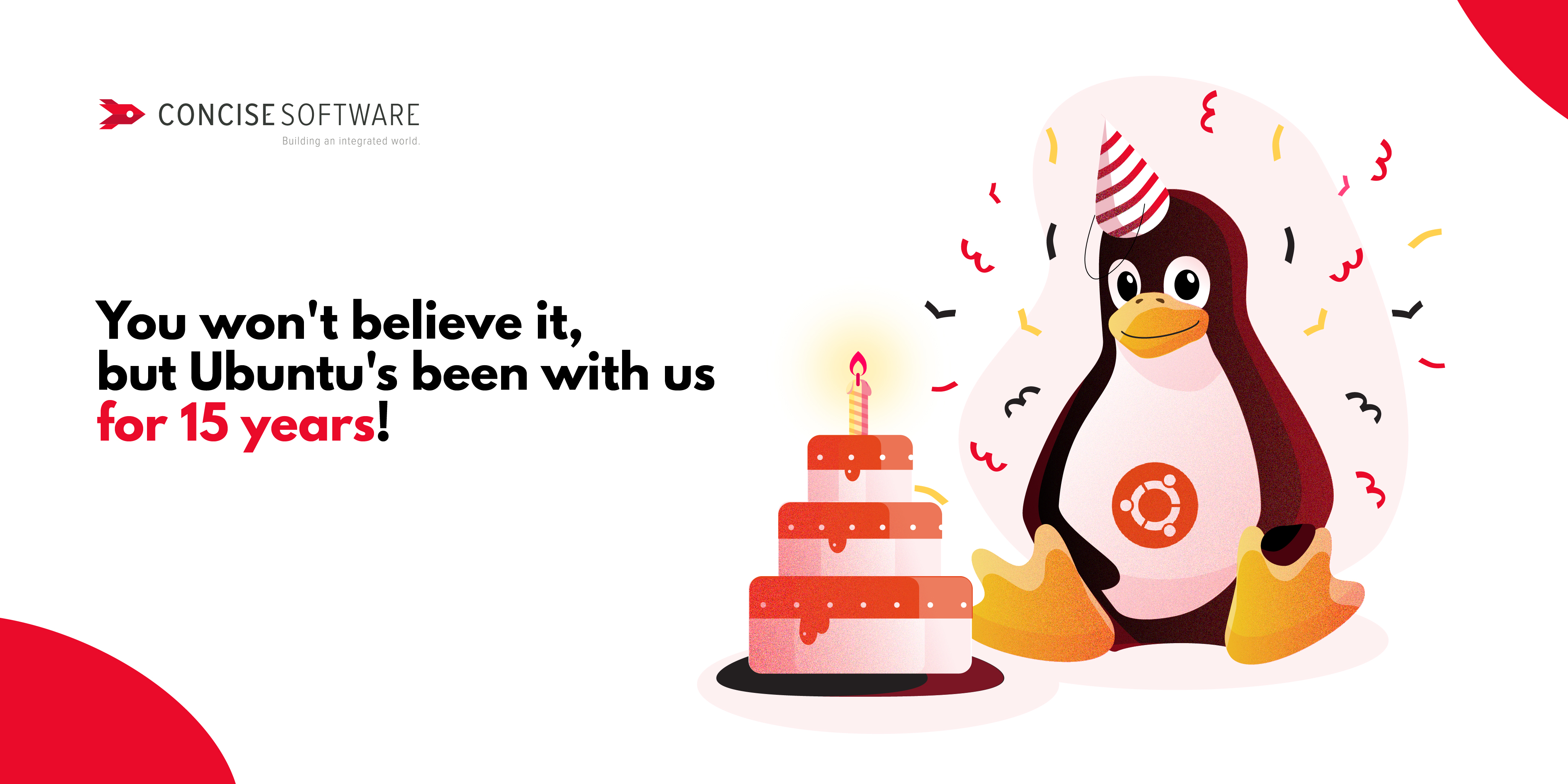 Ubuntu has been with us for 15 years!   Concise Software
