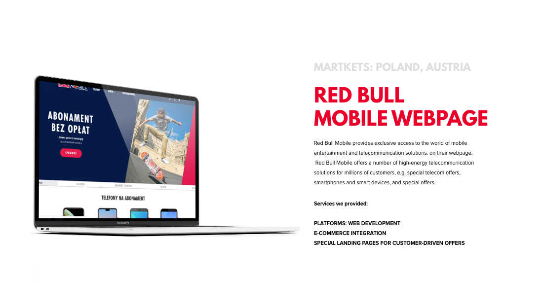 short case study about the RED BULL MOBILE WEBPAGE project