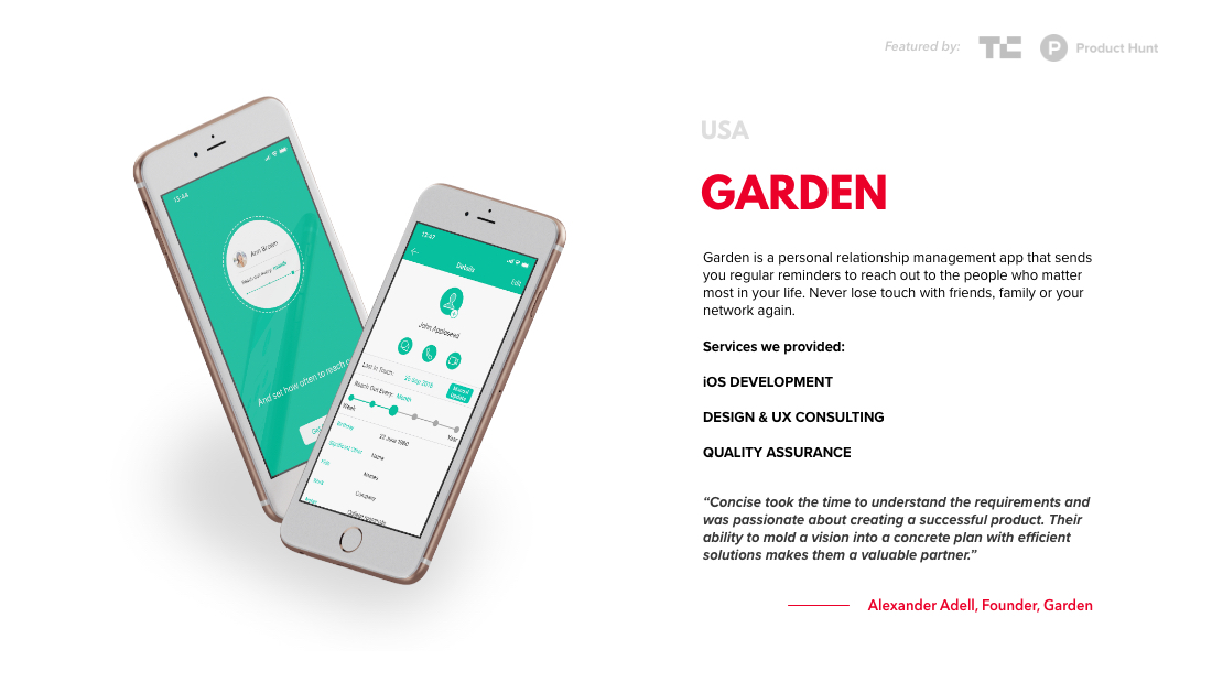 short case study about the GARDEN project