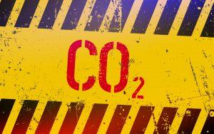 co2 gas lettering on danger sign