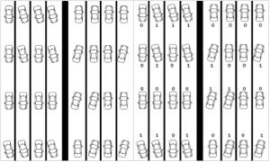 Storing data in a binar format on a cassette tape