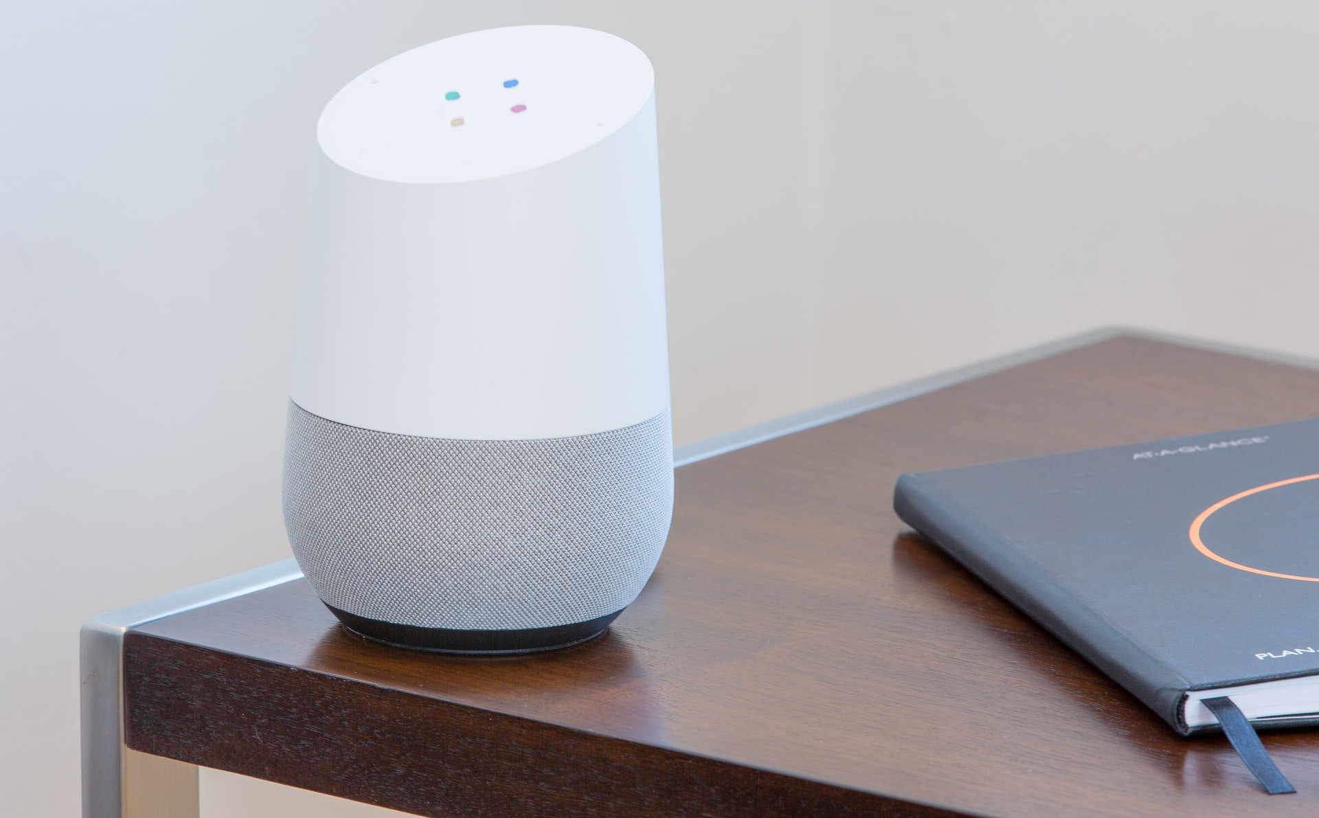 Google Assistant, Google Home on a desk