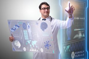 Implementing predictive analytics tools helps us to discover patterns hidden in large data sets. A young doctor is examining data to gain meaningful insights that can improve patients' outcomes.